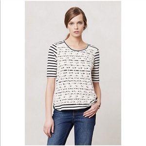 Anthropologie Lili's Closet Stripes & Clover Tee S